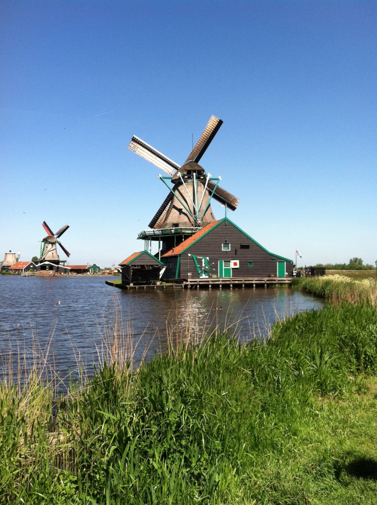 Windmills Amsterdam Countryside