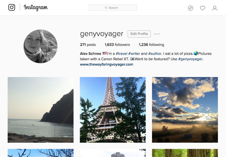 Alex Instagram Page