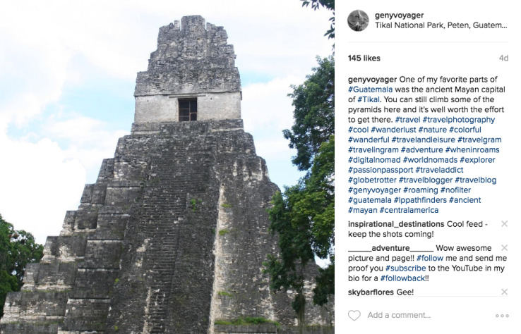 Hashtags genyvoyager Instagram