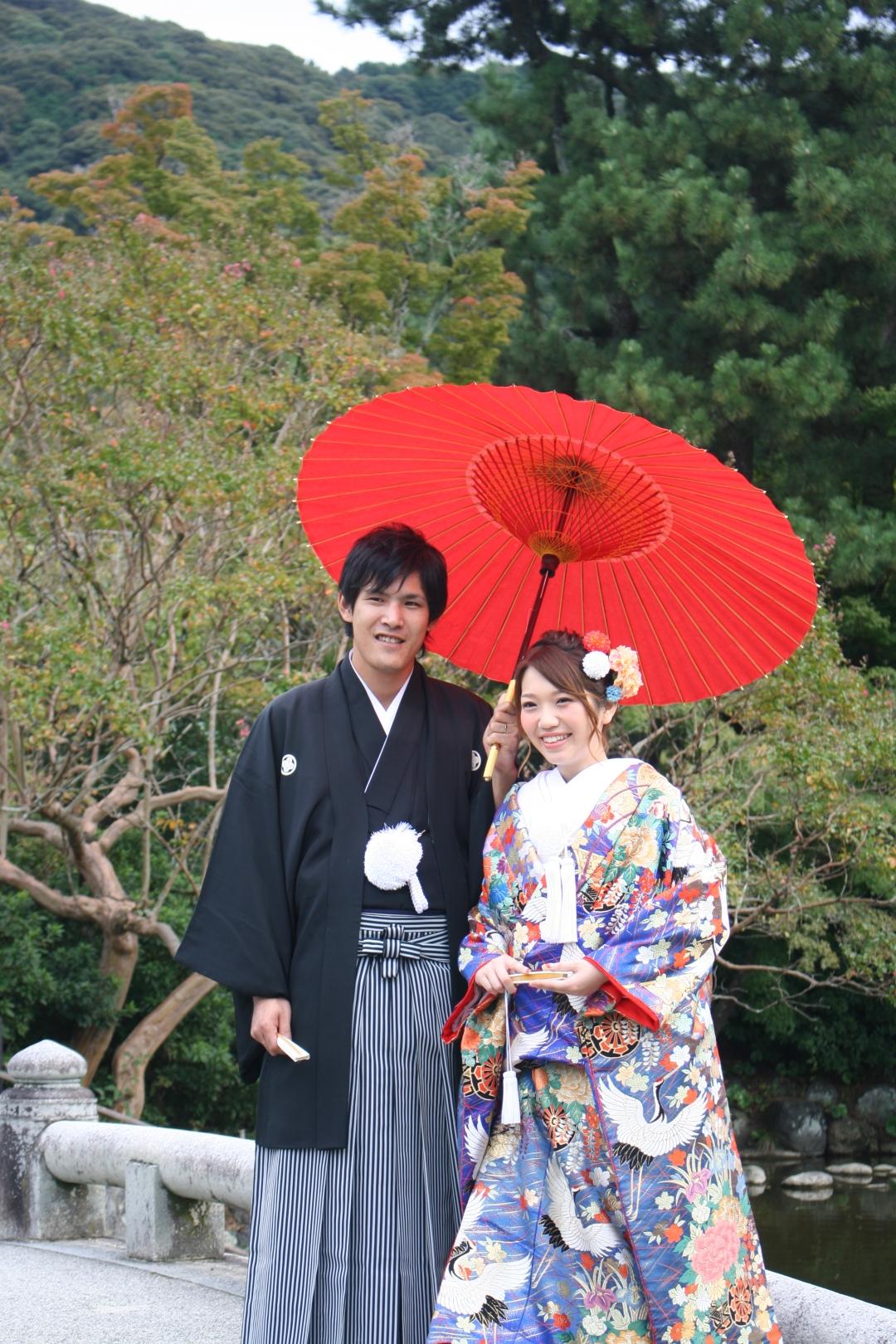 couple japan kyoto